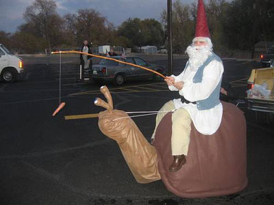gnome on snail costume