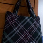 Reusable Shopping Tote from Old Skirt Tutorial