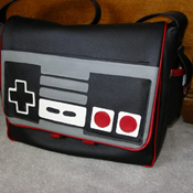 Nintendo controller messenger bag tutorial on Craftster