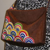 Rainbow messenger bag tutorial on Craftster