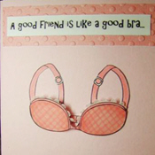 Supportive Friend Breast Cancer Awareness Greeting Card on Splitcoaststampers.com