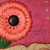 Sending Smiles Breast Cancer Awareness Greeting Card on Splitcoaststampers.com