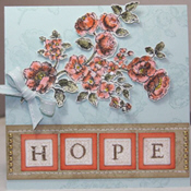 Squares of Hope Breast Cancer Awareness Greeting Card on Splitcoaststampers.com