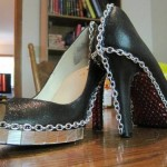 Lady Gaga Bling and Chain High Heel Shoes