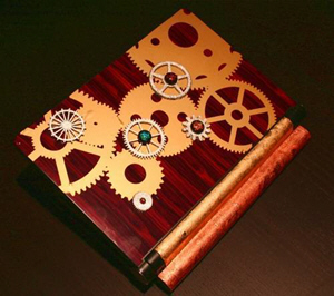 Steampunk Netbook Makeover with Gears and Cogs
