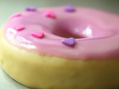 Handmade Donut Soap with Strawberry Frosting and Sprinkles on Craftster
