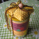Snack Mix and Hand Knit Dishcloth by yelutci on Craftster