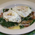 Eggs, Spinach, Mushrooms, and Bacon Recipe