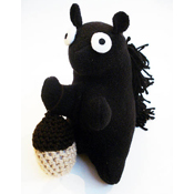 Squirrel squeaky dog toy