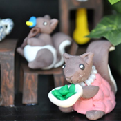 Squirrel family treehouse
