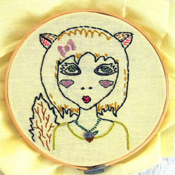 Squirrel girl cross stitch