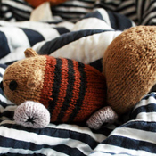 Squirrel on wheels amigurumi
