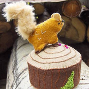 Squirrel pincushion