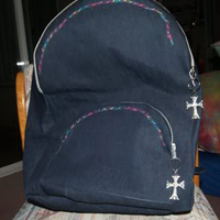 Backpack pattern and tutorial with laptop computer component