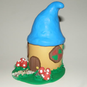 The Smurfs clay house