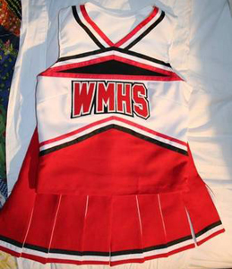 Glee cheerios uniform halloween costume with instructions how to make