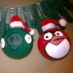 Angry Birds Holiday Ornaments