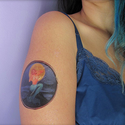 Design fake tattoos and body art for your halloween for How to make fake skin for tattooing