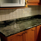 She Transformed Her Laminate Countertops Using A Sea Sponge And Layers And  Layers Of Polyurethane For High Gloss And Durability. In Only 12 Hours, ...