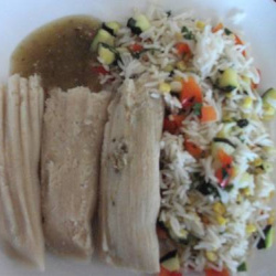 Green Chile Chicken Tamales