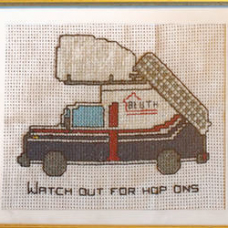 Cross-stitched Stair Car