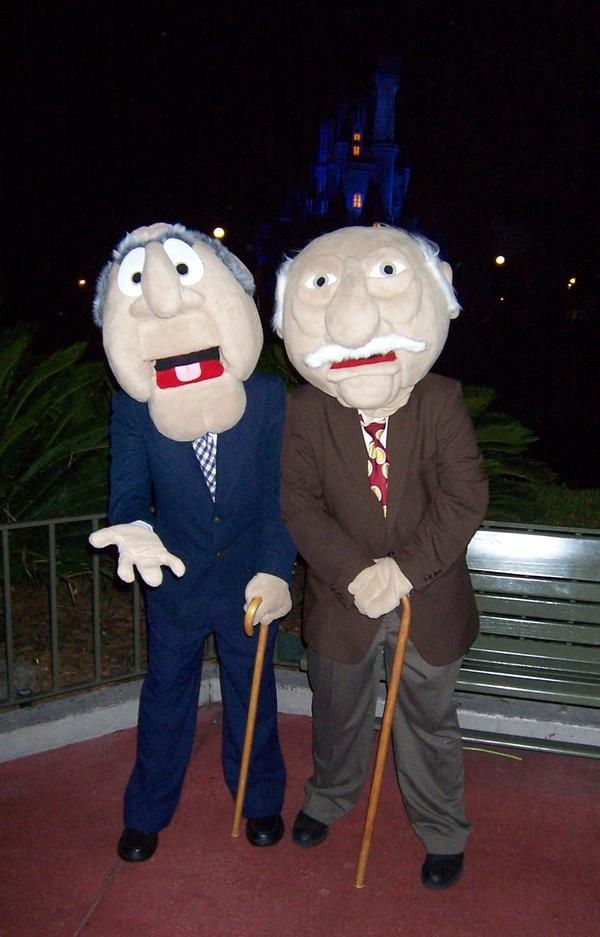 WALDORF: They aren't half bad.<br /> STATLER: Nope, they're ALL bad!