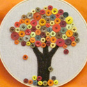 Fall Button Tree