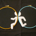 Portal Embroidery Diptych