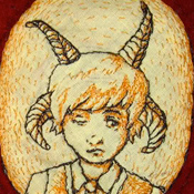 Boy with Horns Embroidery