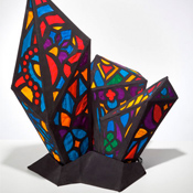 Stained Glass Silk Lamp