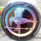 Hunger Games Glass Plate
