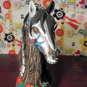Painted Horse Sculpture
