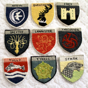 Game of Thrones Felt Badges