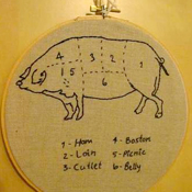 Meat Embroidery