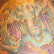 Ganesh Sewing Tattoo