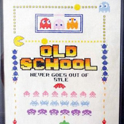 Old School Cross-stitch Sampler
