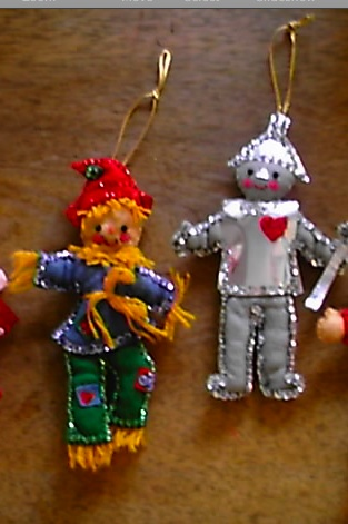 1970's Wizard of Oz Ornaments