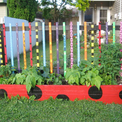 Painted Raised Garden Bed