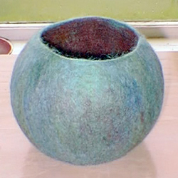 Wet Felted Vessel