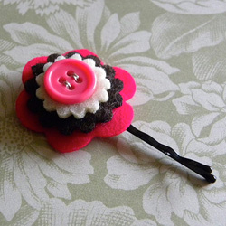 Felt Flower Bobby Pin