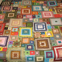 Scrappy Square Quilt Top