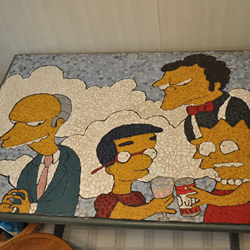 simpsons mosaic table