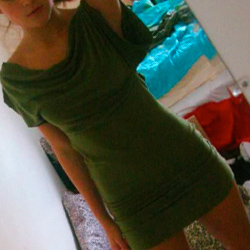 Green Jersey Mini Dress