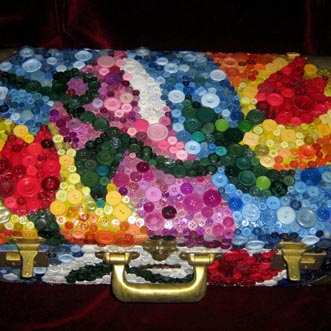 Tulip Button Suitcase