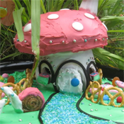 Toadstool gingerbread house