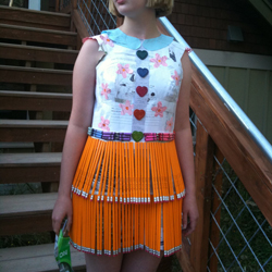 Skirt Made from Pencils