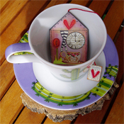 Decorated teabag