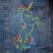 Embroidered unicorn
