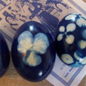 Onion-dyed eggs