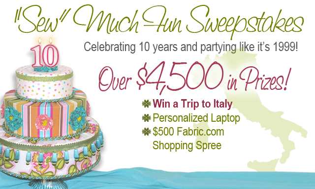 Fabric.com Sew Much Fun Sweepstakes